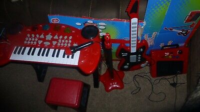 £15 • Buy CHAD VALLEY SINGALONG KEYBOARD WITH STOOL ELECTRONIC GUITAR AMP STAND MIC Age 3+