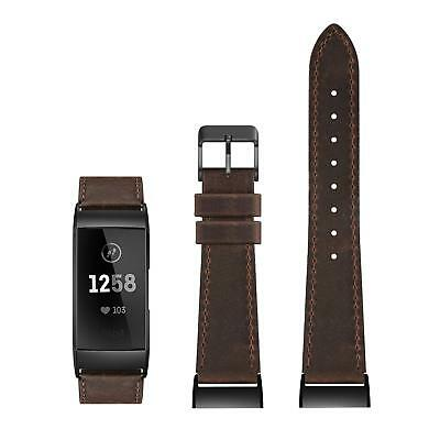 $ CDN13.56 • Buy Leather Band For Fitbit Charge 2 Retro Brown Leather Blk Buckle Sz LG 6.4 -8.3
