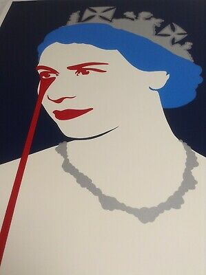 £550 • Buy PURE EVIL - PRINCE PHILIP's NIGHTMARE (BLUE) - LIMITED EDITION PRINT