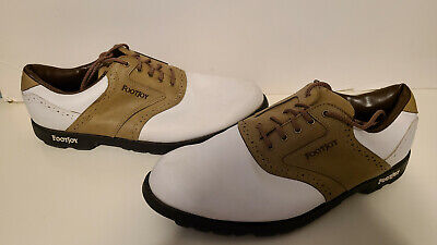 $29.99 • Buy FootJoy White And Tan GOLF Shoes - Mens Size 12 - Used