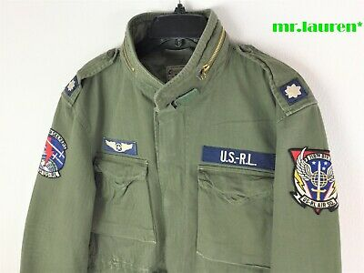 $299.99 • Buy Polo Ralph Lauren Men Military Patch Army M65 Field Combat Jacket Olive 2021 VER