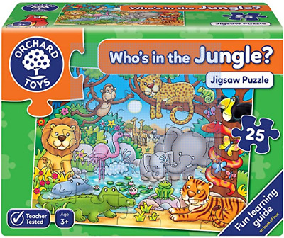 £2.99 • Buy Orchard Toys Who's In The Jungle - 25 Piece Jigsaw Puzzle - Ages 3+ - Party Gift