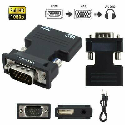 £4.95 • Buy 1080P HDMI Female To VGA Male With Audio Output Cable Converter Adapter Lead UK