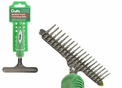 £5.75 • Buy Crufts Dog Grooming Undercoat Rake For Thick Coats Soft Grip Pet Dog Brush Comb