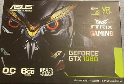 AU466.36 • Buy  Benchmark Tested  ASUS Strix Gaming GeForce GTX 1060 Overclocked Edition 6GB