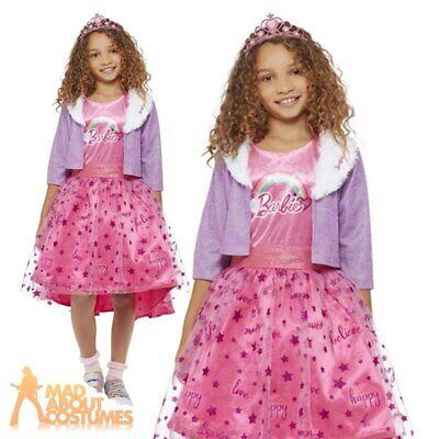 £26.99 • Buy Kids Barbie Doll Princess Costume Adventures Deluxe Girls Fancy Dress Outfit