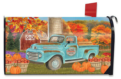 $16.99 • Buy Fresh Picked Pumpkins Fall Magnetic Mailbox Cover Pickup Autumn Standard