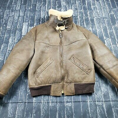 £195.21 • Buy VTG WWII US Army Air Force  B-3 Shearling Leather Bomb Aviator Ardney Jacket 42
