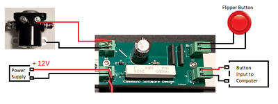 AU37.71 • Buy Virtual Pinball DOF Solenoid Flipper Button Control Board - No Software Required
