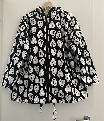 """AU120 • Buy Lovely GORMAN X Claire Johnson """"Weeping Hearts """" Raincoat Size SM"""