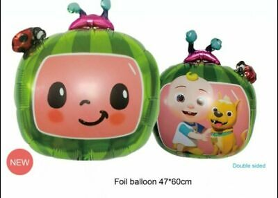 £2.39 • Buy New COCOMELON Themed 18  Foil Balloon Double Sided Kids Birthday Party Decor UK