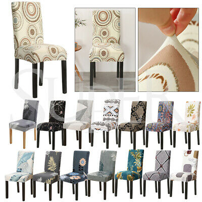 AU27.99 • Buy 1-8 PCS Dining Chair Covers Spandex Cover Stretch Washable Wedding Banquet Party