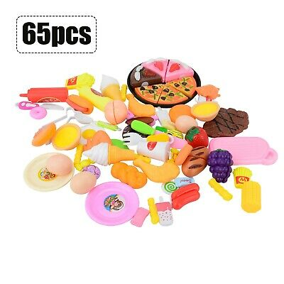 £13.19 • Buy 65PCS Kids Toy Pretend Role Play Kitchen Pizza Food Cutting Sets Children Gift