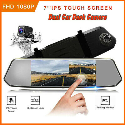 AU67.99 • Buy TOGUARD 7''Dash Cam 1080P Front And Rear Car DVR Camera Recorder Parking Monitor