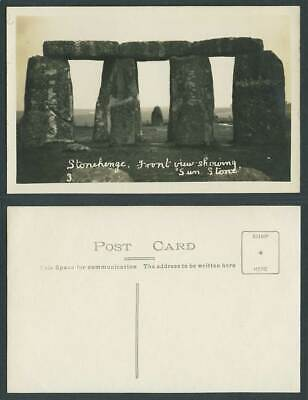 £4.99 • Buy Stonehenge, Front View Showing Sun Stone Old Real Photo Postcard Wiltshire No. 3