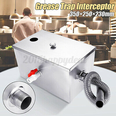 £25.96 • Buy 8LB 5GPM Stainless Steel Grease Trap Interceptor Large For Kitchen Wastewater