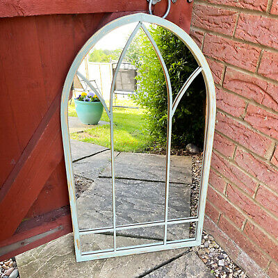 £89.99 • Buy Gothic Church Arched Window Door Metal Extra Large Home Garden Wall Mirror 83cm