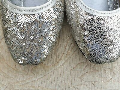 £4.50 • Buy Silver  Ladies  Indian Wedding  Back Less Slipper Khussa Shoes   Size 4