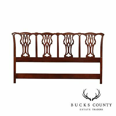 $895 • Buy Chippendale Style Carved Mahogany King Headboard