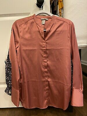 $9.99 • Buy Pink Mauve H And M H&M Polyester Blouse