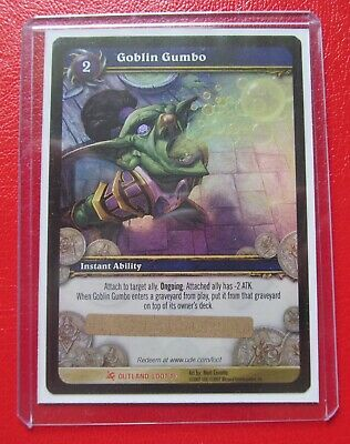 £40 • Buy Goblin Gumbo Unscratched Loot Card World Of Warcraft WoW TCG Outland Loot 1/3
