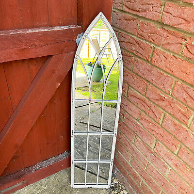 £106.99 • Buy Antique Intersecting Tracery Gothic Arched Window Metal Garden Wall Mirror Art