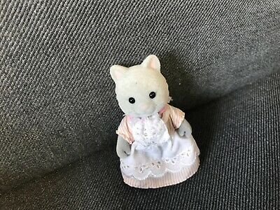 £3.99 • Buy Sylvanian Families Cat In Stripped Dress - Used Condition
