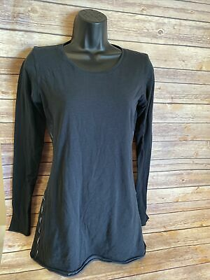 $ CDN26.56 • Buy Lululemon Long Sleeve Shirt Size 10 Womens Black Base Layer Fitted Top Casual