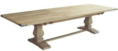 AU1999 • Buy Asti Hampton Style Rustic Extension Dining Table Solid Mango Timber 258-348 Cm.