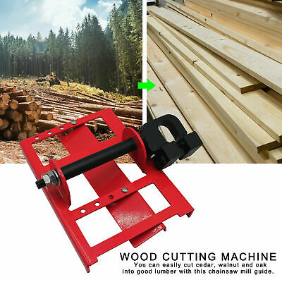 £29.79 • Buy Lumber Cutting Guide Saw Steel Timber Chainsaw Attachment Cut Guided Mill Wood-