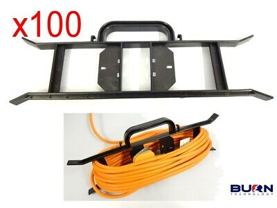 £189.99 • Buy 100 X CABLE WIRE TIDY REEL- H FRAME MAINS EXTENSION POWER LEAD CARRIER / HOLDER