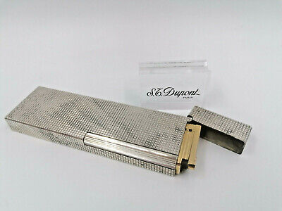 £134.16 • Buy Nice ST Dupont Table Gas Lighter - Line 1 BR - Silver Plated - 1970'S -