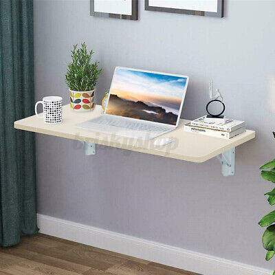 £29.99 • Buy 80x50cm Wall Mounted Folding Table Drop-leaf Computer Desk Dining Table Rack UK