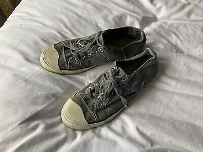£4.20 • Buy Replay Blue Jeans Denim Style Canvas Trainers Rare Designer Shoes Size 10