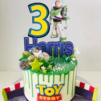 £7 • Buy Buz Light Year Cake Topper. Age And Name( Personalised ) 6inch Width. Toy Story