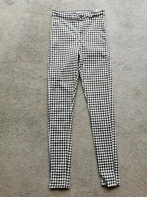 £3 • Buy TOPSHOP Joni High Jeans - Jeggings - Black White Checked Gingham - 10 W28 L32