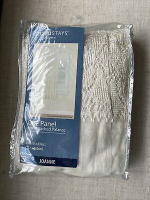 $7 • Buy Mainstays Lace/Sheer One Panel With Attached Valance Ivory 60  W X 63  L Curtain