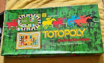 £19.95 • Buy Vintage Waddingtons Totopoly Board Game, Horse Racing Game 1978