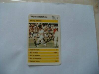 £4.99 • Buy Signed Top Trumps Card-phil Neale-worcestershire Cricket