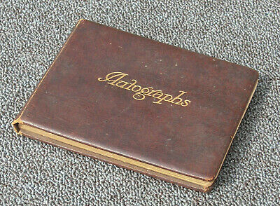 £50 • Buy Autograph Book - 1950s Cricketers, 1940s Bandleader, Negro Children Water Colour