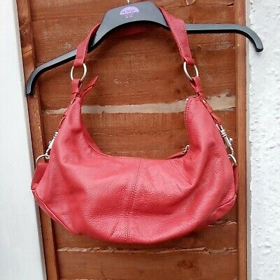 £18.50 • Buy Red M & S Autograph Leather Slouchy Shoulder Carry Bag