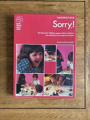 £12.99 • Buy Sorry! Family Board Game, Waddingtons, 1973 Complete Vintage Rare Good Condition