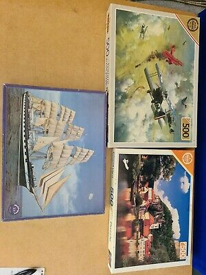 £3.80 • Buy 3 X 500 Piece JIGSAW PUZZLE  Falcon And Waddingtons  Used