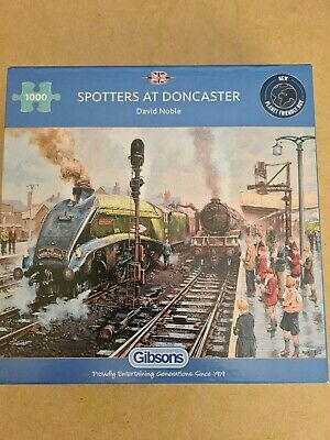 £4.50 • Buy 1000 Piece JIGSAW PUZZLE  Gibsons   Spotters At Doncaster By David Noble