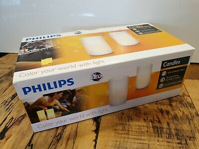 £14.55 • Buy Philips Realistic Rechargeable Candle Tea Light Set Of 2 Candlelight LED. BNIB.