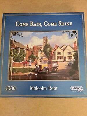 £4.50 • Buy 1000 Piece JIGSAW PUZZLE  Gibsons   Come Rain,come Shine By Malcolm Root