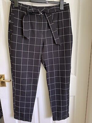 £1.40 • Buy M&co Black Checked Trousers Size 10 Petite