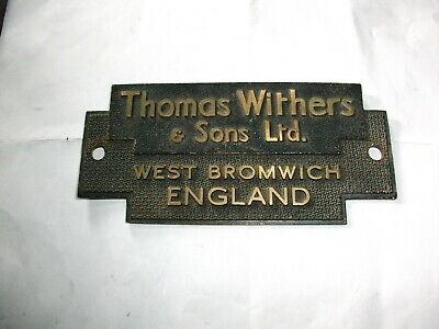 £15 • Buy Withers Safe Badge/plaque, Old Decorative Collectable, Locksmith, Safe Engineer