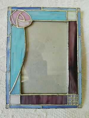 £5 • Buy Past Times Mackintosh Rose Stained Glass Picture Frame 6x4