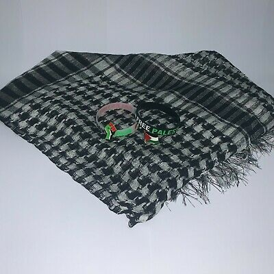 £6.49 • Buy New Palestinian Scarf - Sale Bundle With 2 Free Palestine Badges & 2 Bands - :)